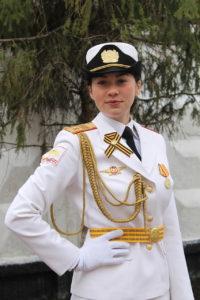 Александра Белобородова - участница парада Победы в Москве.