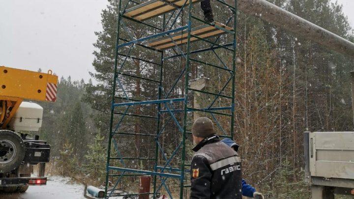 В Североуральске ведутся работы по восстановлению газоснабжения