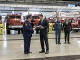Евгений Куйвашев передал пожарным новую технику, которая будет применяться в 19 населенных пунктах Свердловской области