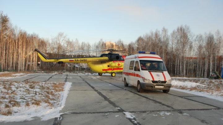 Пострадавшего в ДТП североуральца эвакуировали на вертолете
