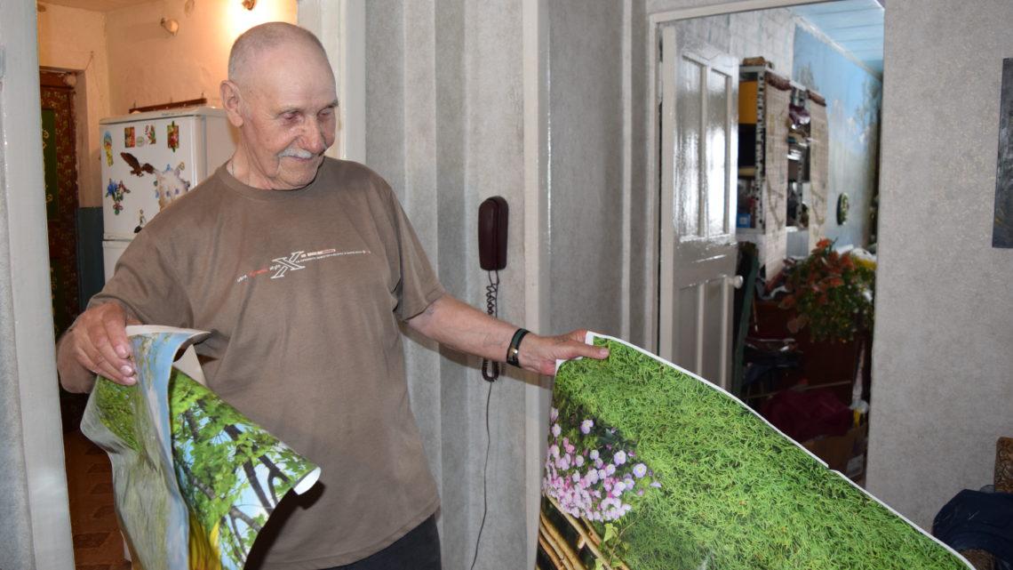 Спасибо за подарок В квартире бывшего узника концлагеря Алексея Михайловича Телелюхина полным ходом идёт косметический ремонт