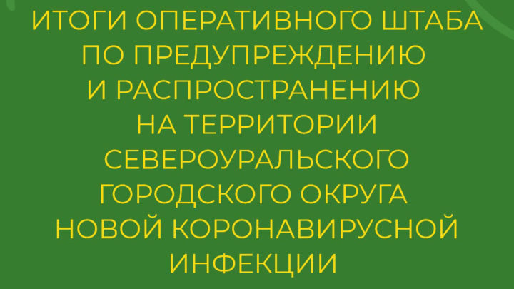 Итоги оперативного штаба по предупреждению распространения на территории Североуральского городского округа новой коронавирусной инфекции на 10:00 часов 29 апреля 2020 года: