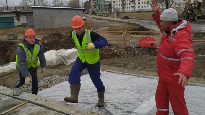 Строительство моста продолжается