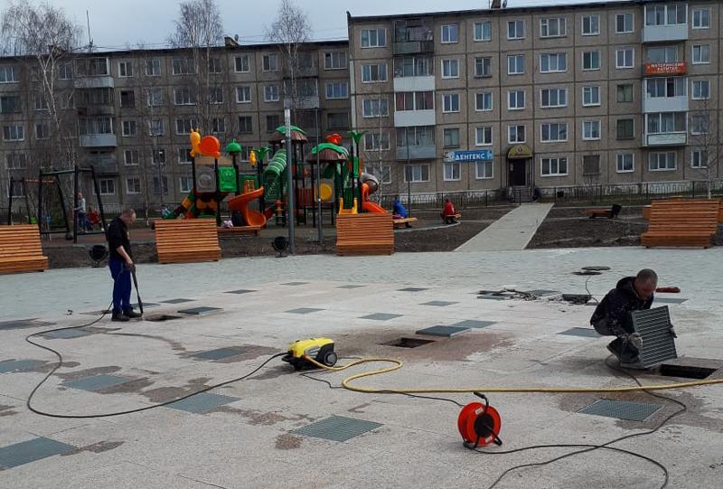 В парке продолжаются работы