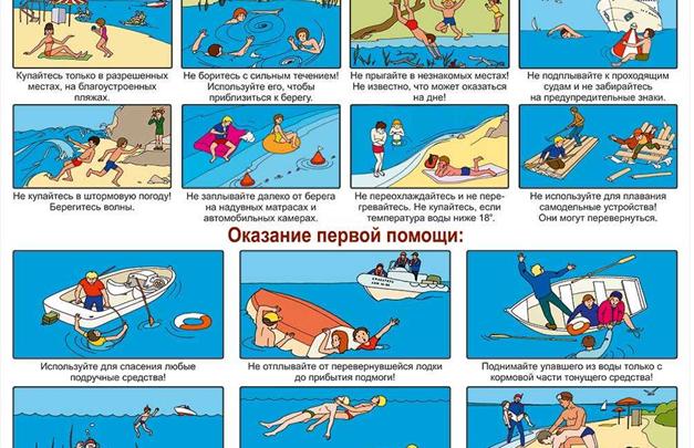 Рекомендации МЧС по поведению на воде