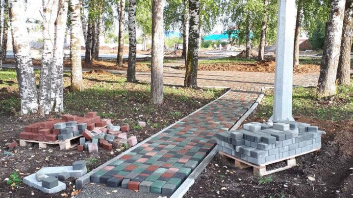 «РОЩА ПАМЯТИ» В Калье полным ходом идёт строительство парка