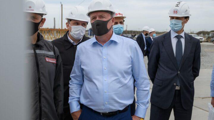 Первый заместитель губернатора Алексей Орлов оценил ход работ на стройплощадке Деревни Универсиады