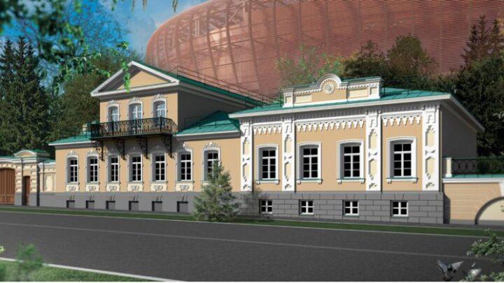 Реставрация двух купеческих усадеб возле строящейся ледовой арены в Екатеринбурге начнется весной