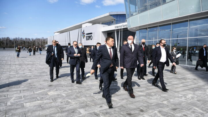 Дмитрий Чернышенко, Олег Матыцин и Евгений Куйвашев обсудили подготовку к Всемирному саммиту «SportAccord» в Екатеринбурге
