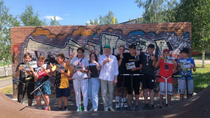 В Североуральске прошло состязание самокатеров организованное при поддержке некоммерческой организацией «Поезд здоровья Свердловской области»