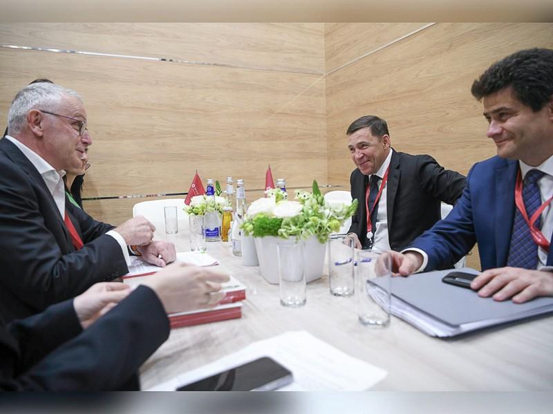 Губернатор договорился с руководством торговой сети «Магнит» об обеспечении уральцев доступными местными товарами