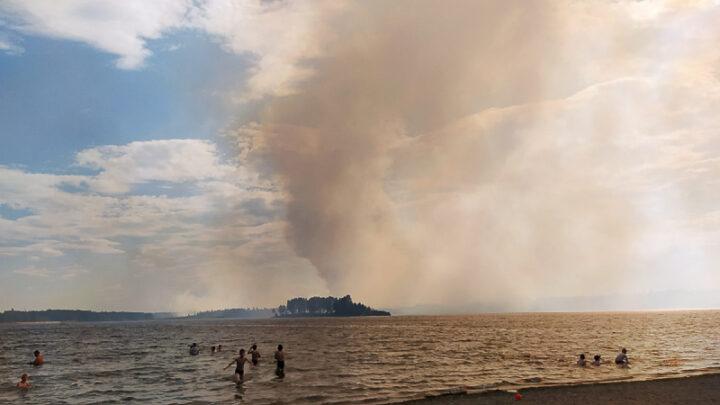 13 июня городской пруд заволокло дымом, запах гари на сутки сковал Североуральск и его окрестности.