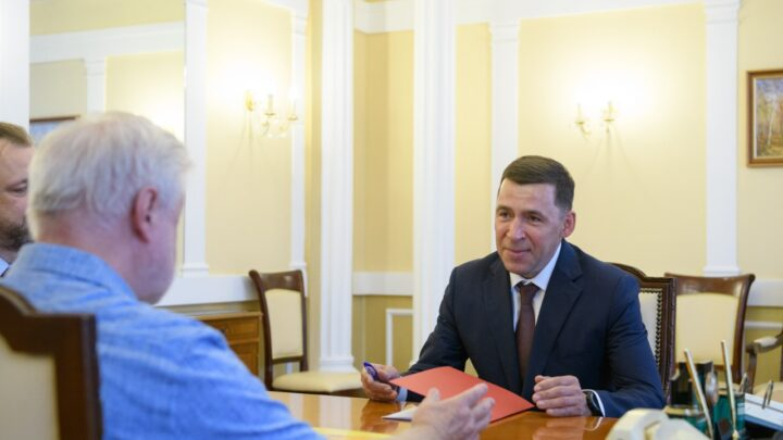 Евгений Куйвашев провёл рабочую встречу с лидером партии «Справедливая Россия» Сергеем Мироновым