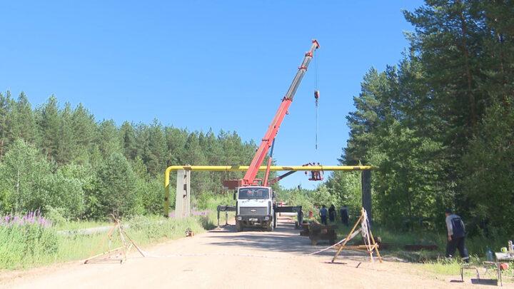 Ремонтно-восстановительные работы на участке газопровода повреждённом зимой