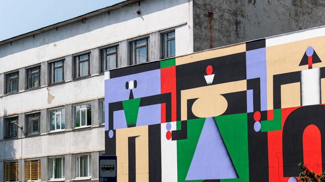 Первые работы на международном фестивале уличного искусства STENOGRAFFIA