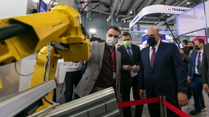 Михаил Мишустин посетил ИННОПРОМ-2021