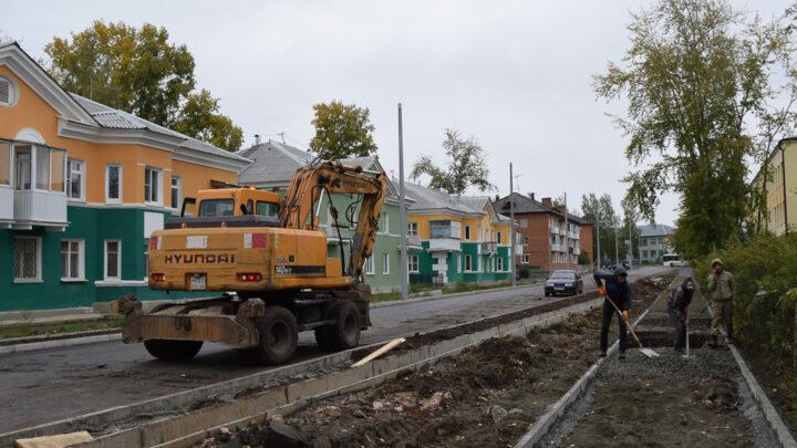 На улице Каржавина во всю идёт капитальная реконструкция дороги.