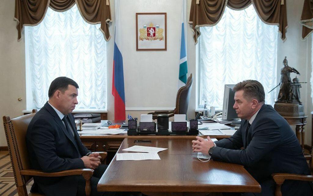 Евгений Куйвашев обсудил с председателем Избирательной комиссии Владимиром Русиновым готовность региона к голосованию
